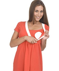 Orange Bello Voi Nursing Dress