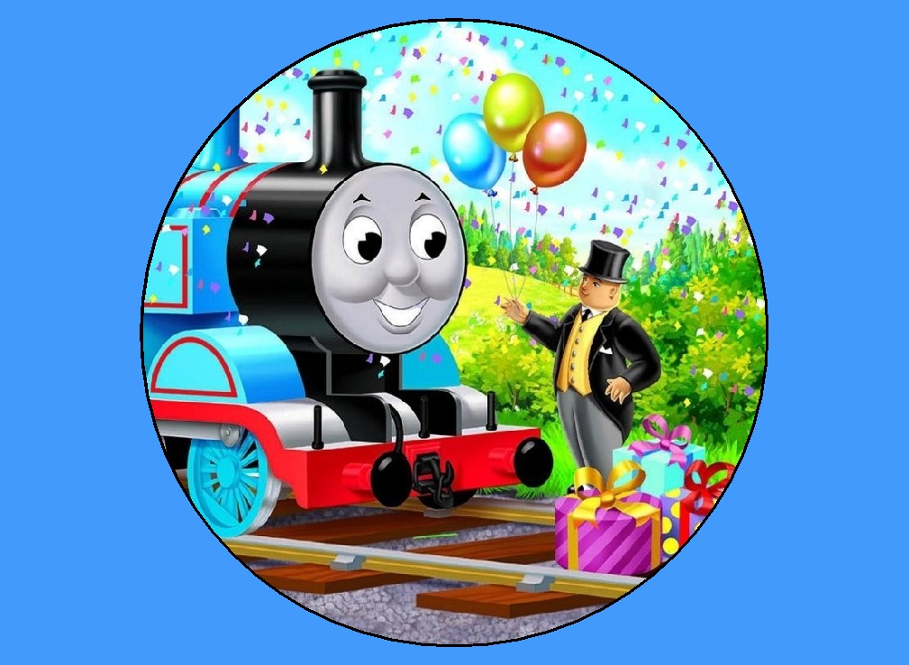 Thomas the Train Birthday Edible Image Cake Topper eBay
