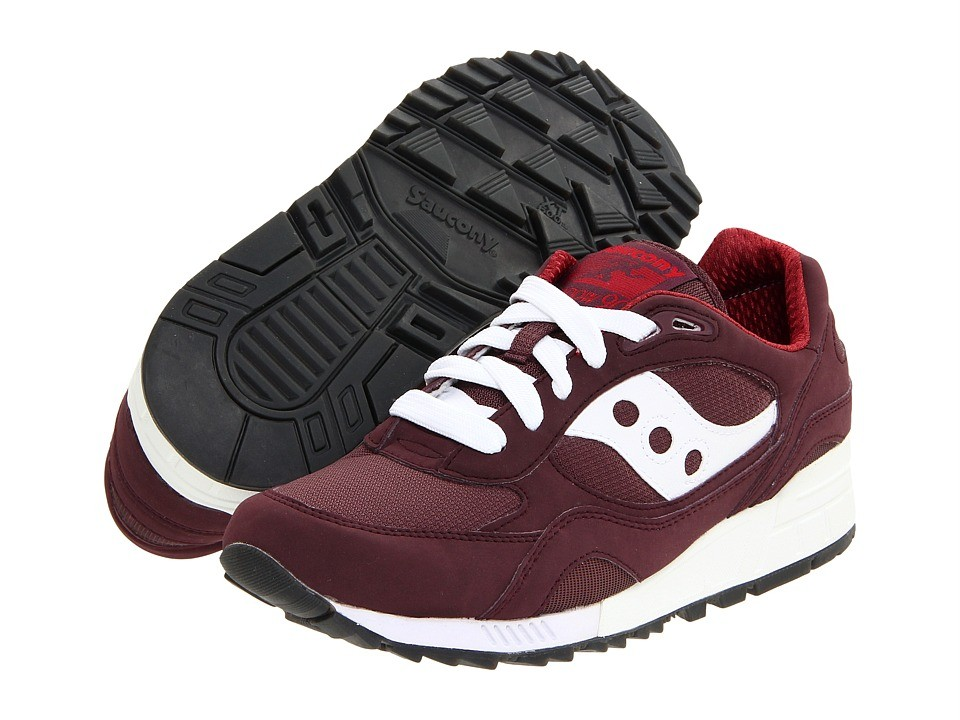 Saucony-Originals-Mens-Shadow-90-Retro-Running-Shoes-Sneakers-Red