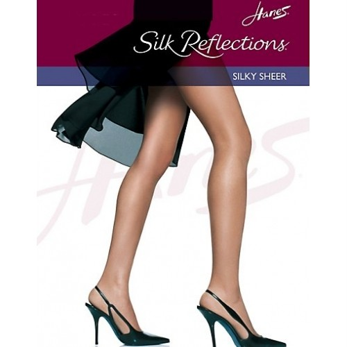 Hanes-Silk-Reflections-Silky-Sheer-Control-Top-Pantyhose-Reinforced-Toe