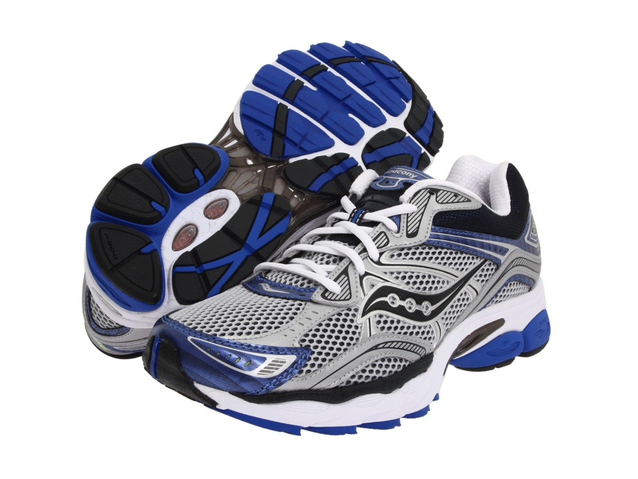 Saucony-Mens-ProGrid-Omni-10-Running-Shoe-Sneaker-Silver-Royal