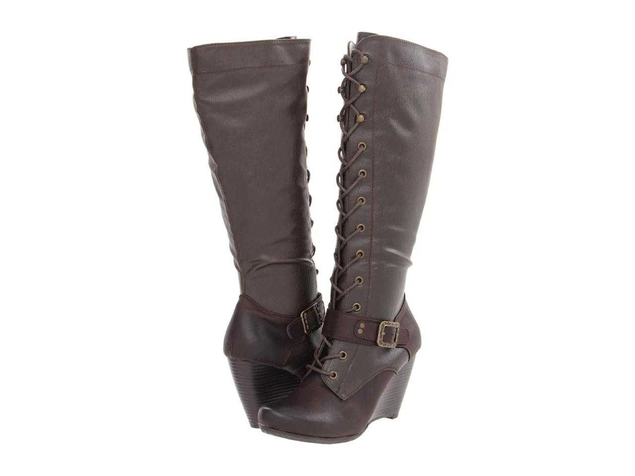 bare traps shoes 039 s darleen knee hi wedge boots