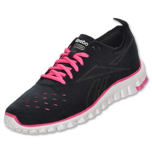 reebok s realflex uform skin running shoes black