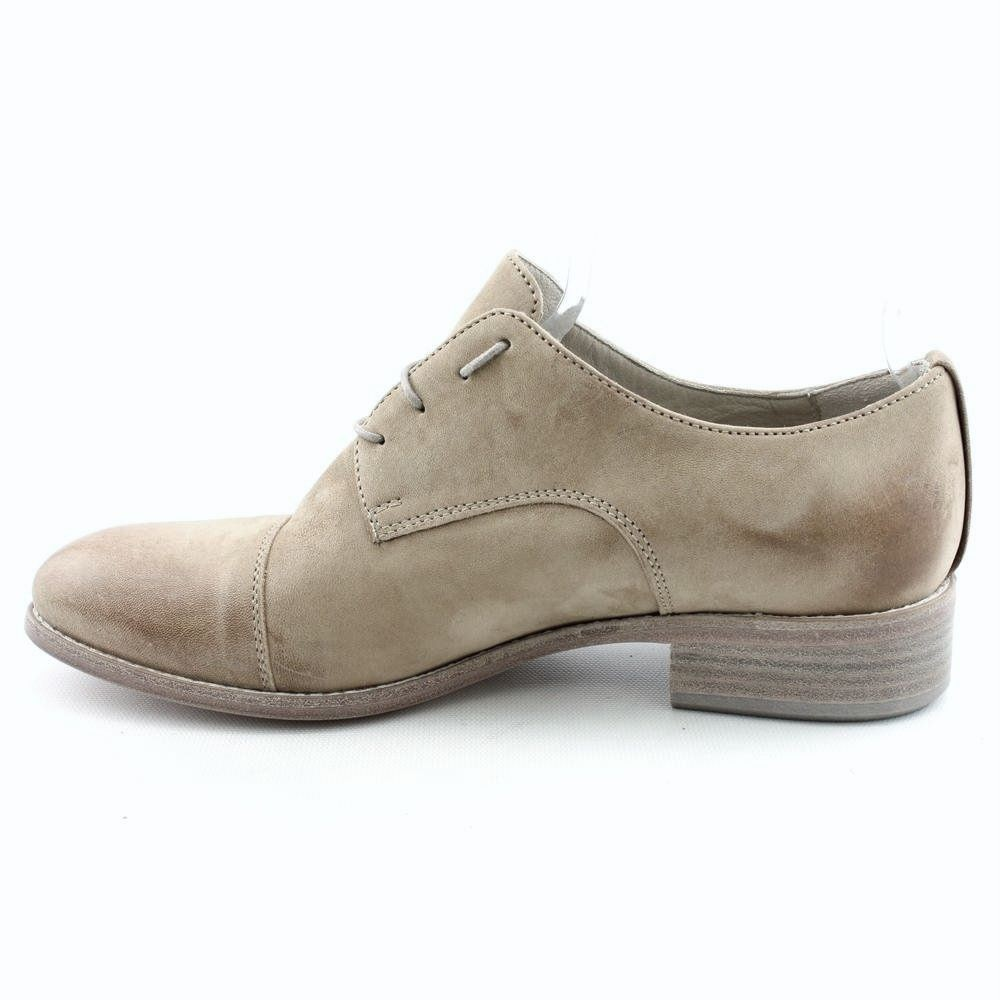 NOW 413 Preppy Women's: Lace-Up Oxfords Shoes Calf Grey Italian