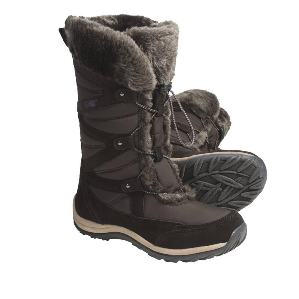 khombu s marker winter boots suede faux fur