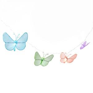 Indoor Butterfly String Lights : Indoor/Outdoor String of Lights - Multi Color Metal Butterfly Lights - LED eBay