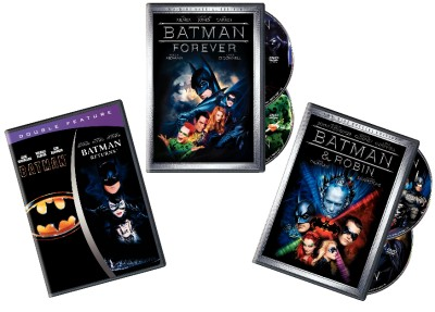 Batman Complete 4 Movie Collection (5 Disc DVD Set) Returns, Forever