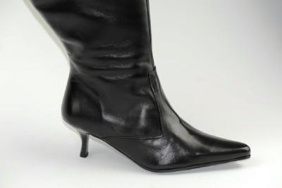 duo navia knee high kitten heel wide calf leather boots