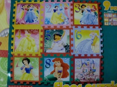 Disney Princess 9pc Soft Foam Play Mat Baby Floor Puzzle