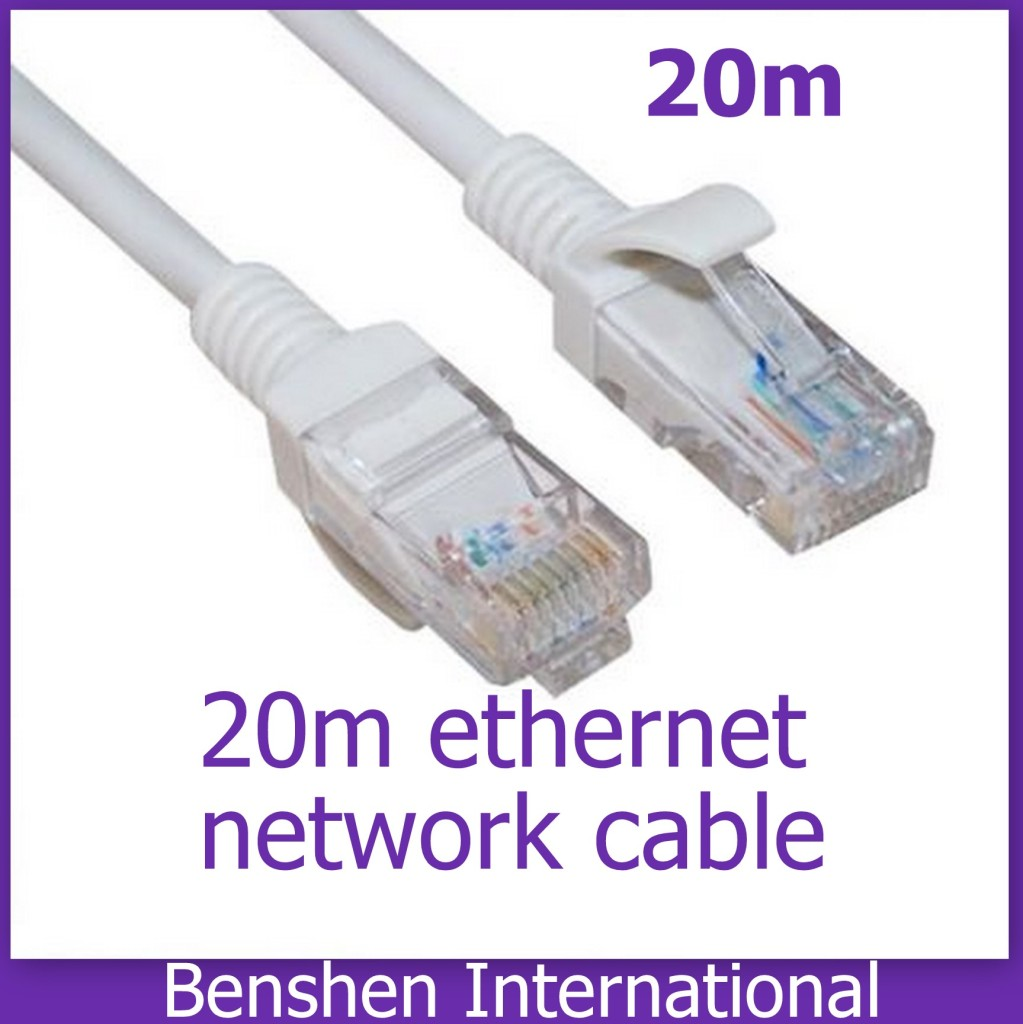20m cat5 ethernet lan cable lead for networking router ps3 ps4 xbox 360 one ebay. Black Bedroom Furniture Sets. Home Design Ideas