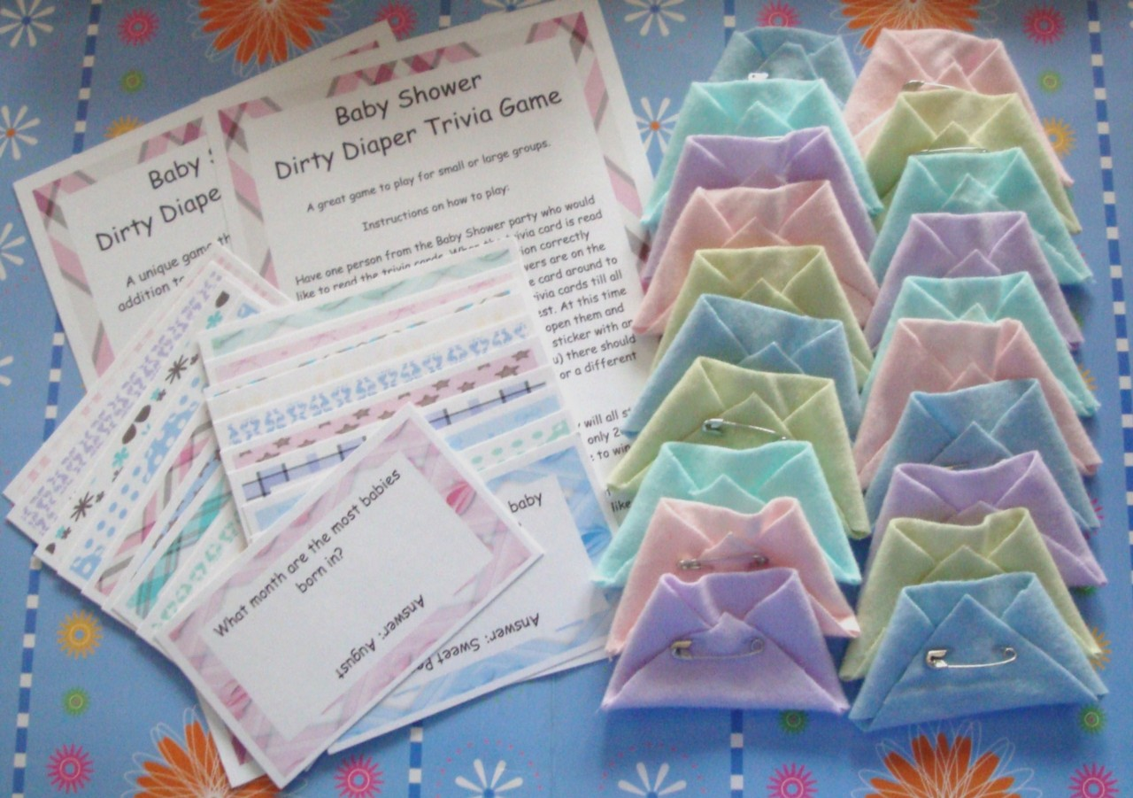 details about baby shower dirty diaper trivia game a fun ice breaker