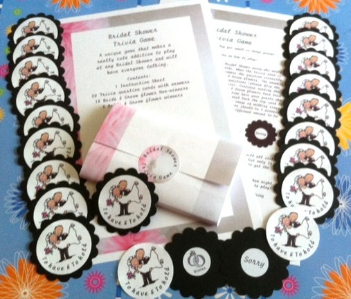 BRIDAL SHOWER TRIVIA GAME A FUN ICE BREAKER FOR SMALL OR
