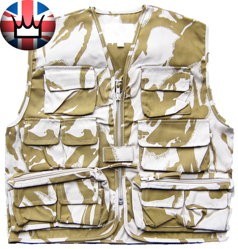Kids-Childrens-DPM-CAMOU-Scouts-ARMY-ACTION-VEST-GILET