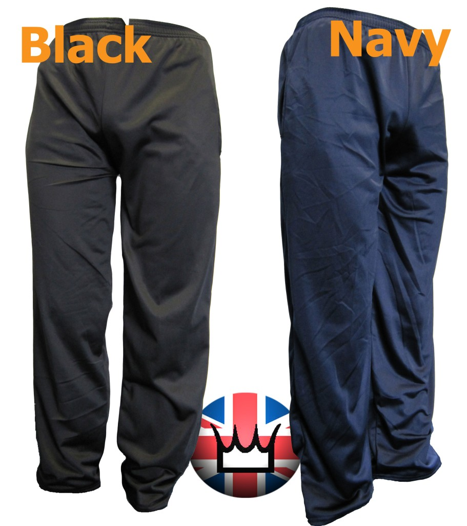 Wwk Mens Plain Silky Casual Tracksuit Bottoms Trousers