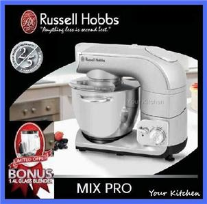 russell hobbs mix stand bench pro mixer glass blender ebay. Black Bedroom Furniture Sets. Home Design Ideas