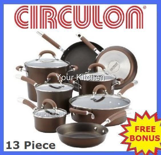 Non Stick Kitchen Set With Price: Circulon Kitchen Saucepan Pots Pan Cookware Set 13 Pc Non