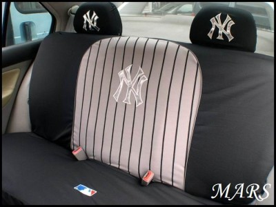 ny yankees car seat covers steering wheel set new york. Black Bedroom Furniture Sets. Home Design Ideas