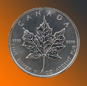 1989 $5 Canada Maple Leaf 1oz .999 Silver Coin