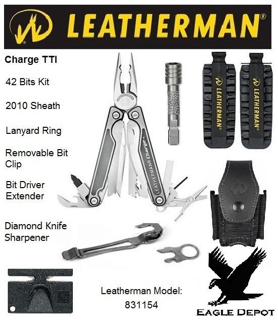 leatherman charge tti w bit kit sheath bit driver ext ebay. Black Bedroom Furniture Sets. Home Design Ideas