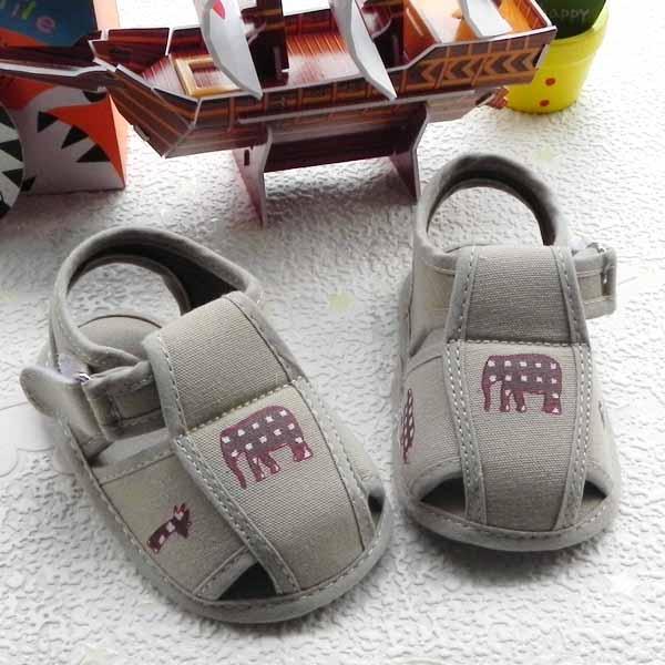 Hotest-Canvas-Khaki-Baby-Boys-Sandals-Shoes-6-18months-US-Size-3-4-5