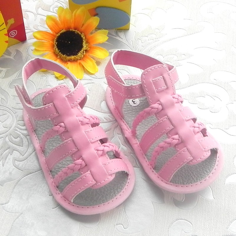 trendy pink leatherette baby sandals shoes 6 18mths
