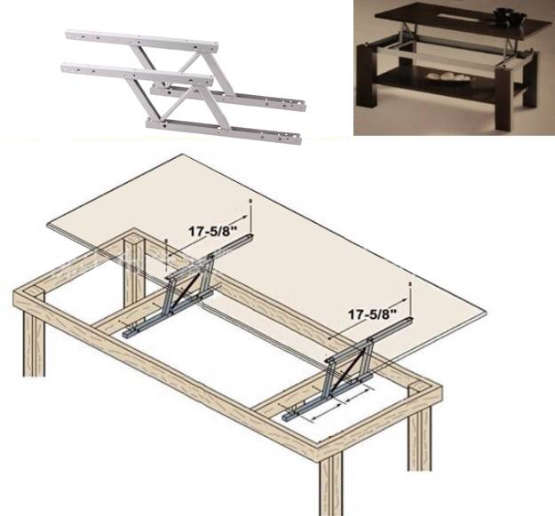 Lift Up Modern Coffee Table Mechanism Hardware Fitting Furniture Spring Hinge Ebay