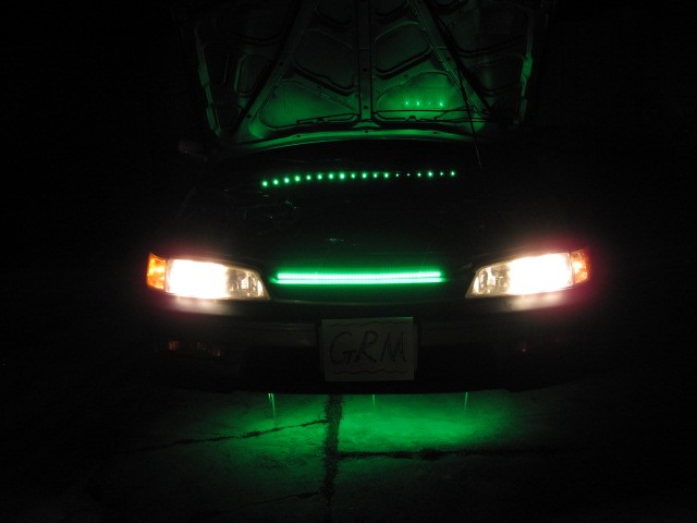 car led knight rider flash strobe scanner light green ebay. Black Bedroom Furniture Sets. Home Design Ideas