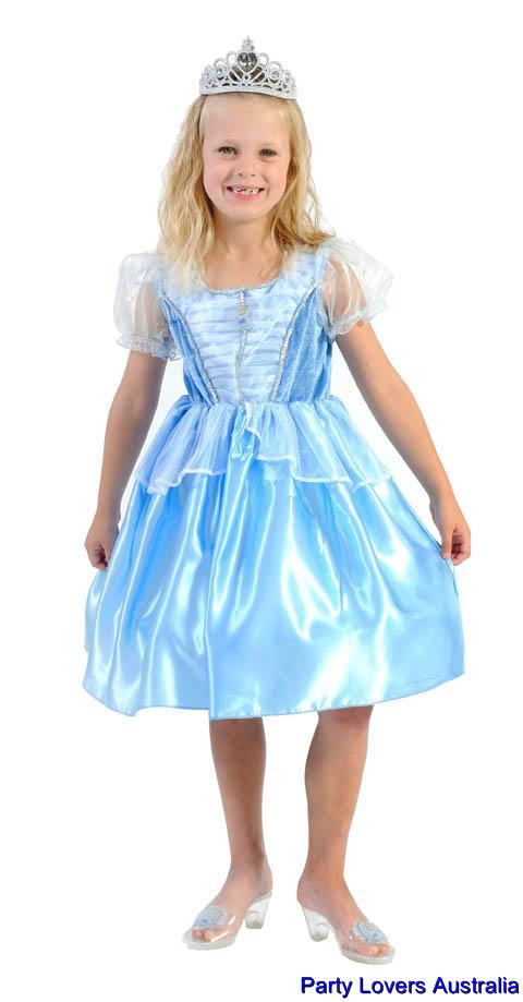 Girls-New-Cinderella-Princess-Dress-DISNEY-Costume-For-Christmas-Birthday-Gift