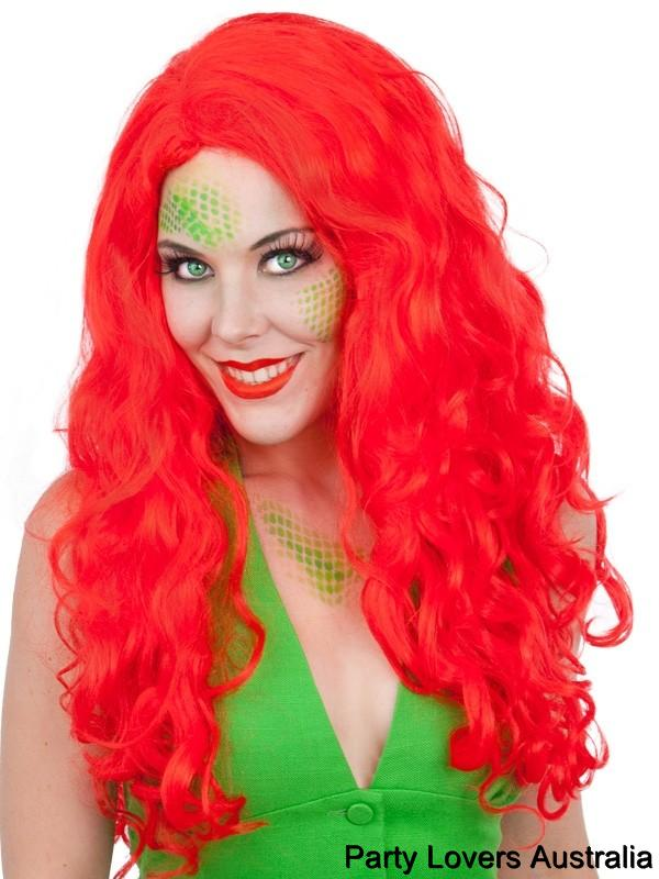 Long Red Poison Ivy Wig 11