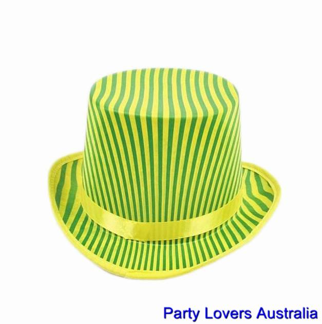 cool aussie green gold top hat for australian cricket