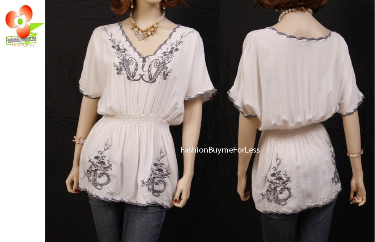 Kylee-White-Renaissance-Embroidered-Peasant-Blouse-Shirt-Top-S-M-L-XL