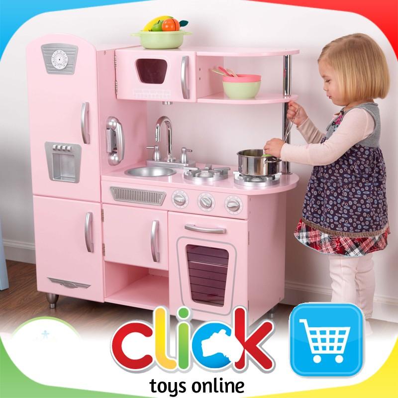 Kidkraft Pink Vintage Kitchen Play Set Wooden Toys Retro