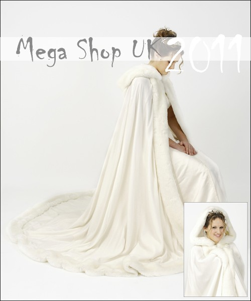Cape-Faux-Fur-SATIN-Cloak-Bridal-Jacket-with-Train-UK