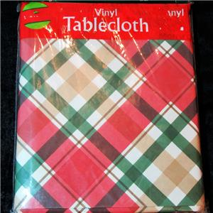 Christmas Vinyl Tablecloths Flannel Backed