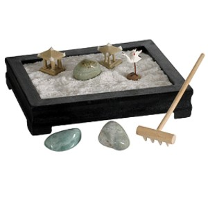 mini zen garden relaxing meditation desk table top new. Black Bedroom Furniture Sets. Home Design Ideas