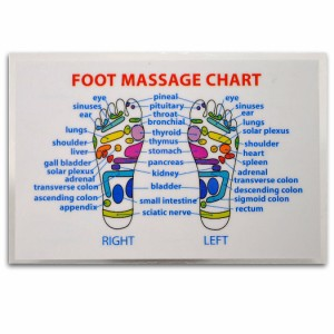 REFLEXOLOGY FOOT MASSAGE WALLET SIZE REFERENCE CARD Chart Pocket