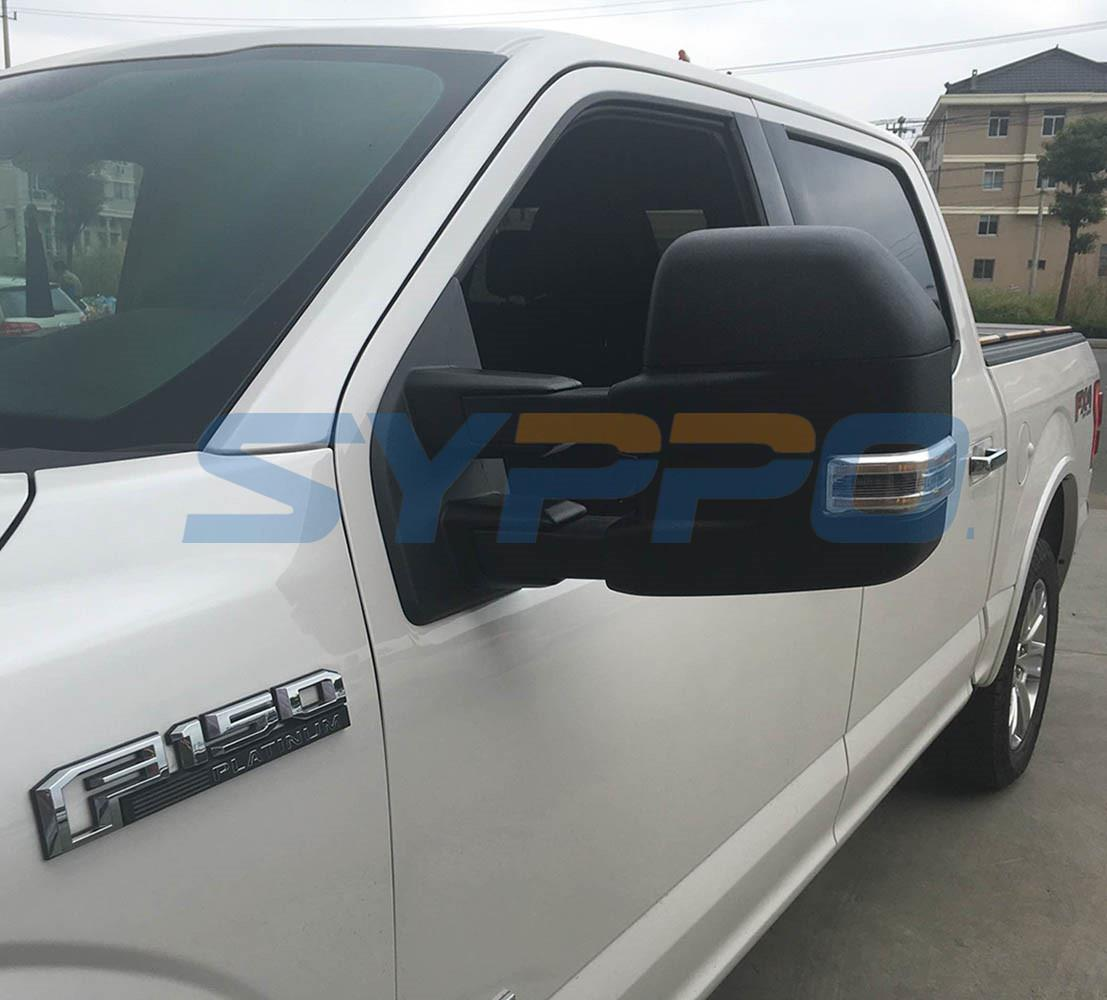 For 15 17 F150 Pickup Towing Mirrors Power Heated Turn