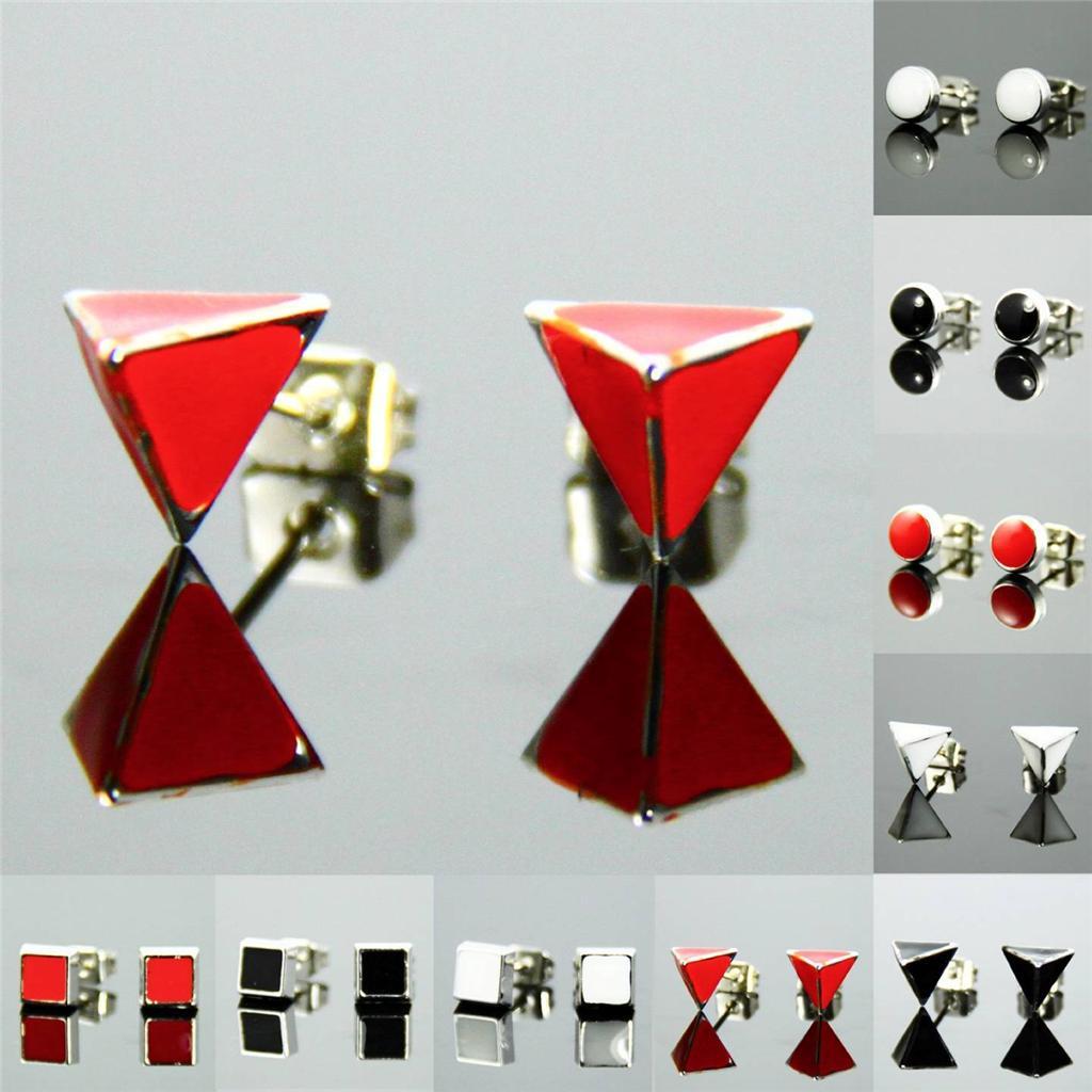 New Fashion Style Cute Pattern Silver Plate Pierced Stud Earrings