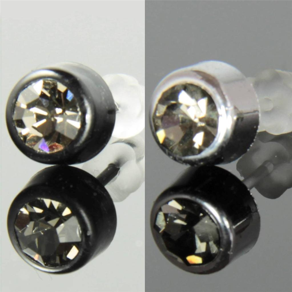 Diamante Stud Earrings: Sparkling Allergy Free Colors 6 Mm Czech Crystal Diamante