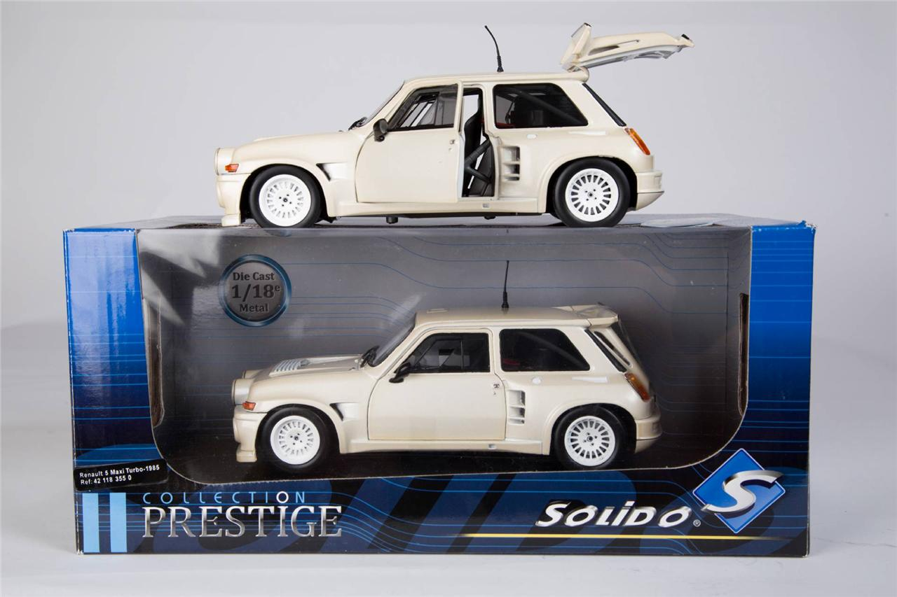 solido collection prestige diecast model cars 1 18 scale models renault 5 ebay. Black Bedroom Furniture Sets. Home Design Ideas