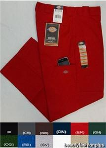 Dickies Double Knee Cell Phone Pocket Pants 85283 Red