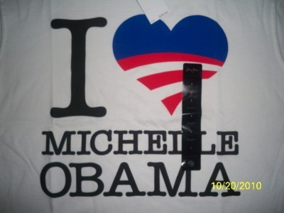 LOT-OF-10-2XL-SEAN-JOHN-AUTHENTIC-White-I-LOVE-MICHELLE-OBAMA-USA-Flag-T-Shirt