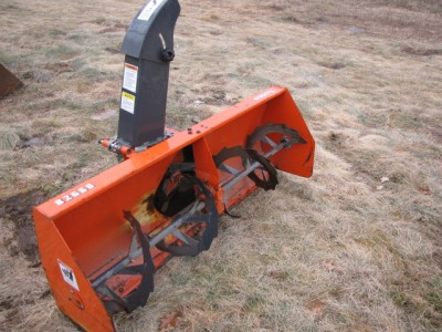 Cost to Ship - Kubota front mount snowblower attachment - from