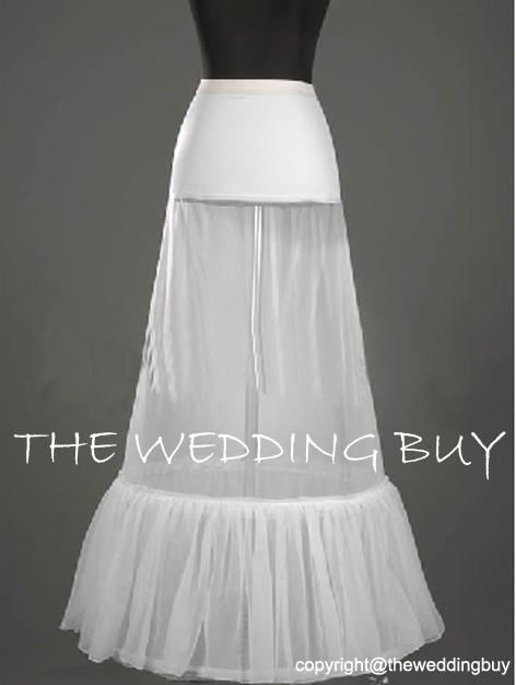 UK WHITE A LINE 2 HOOP WEDDING DRESS BRIDAL ADJUSTABLE PETTICOAT UNDERSKIRT