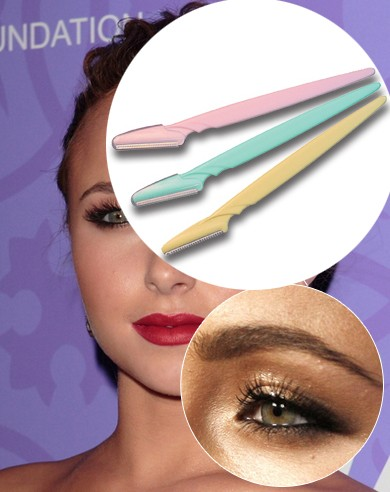eyebrow razor target. tinkle eyebrow razor removes the fine hairs of eyebrow, neck and face as well unnecessary elsewhere.tinkle has a stainless steel target l