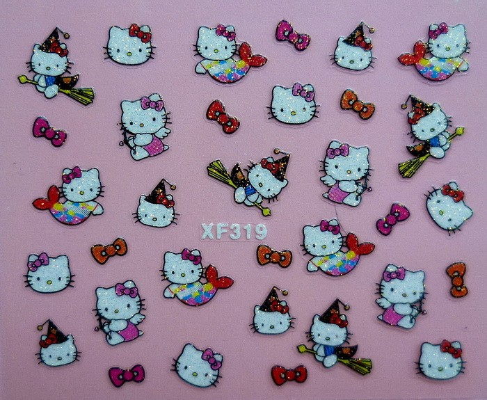 Details about New Hello Kitty Nail Stickers 3D NAIL ART STICKERS - 24