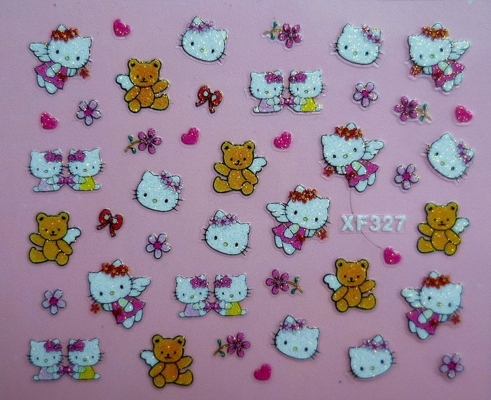 New Hello Kitty Nail Stickers 3D NAIL ART STICKERS  24