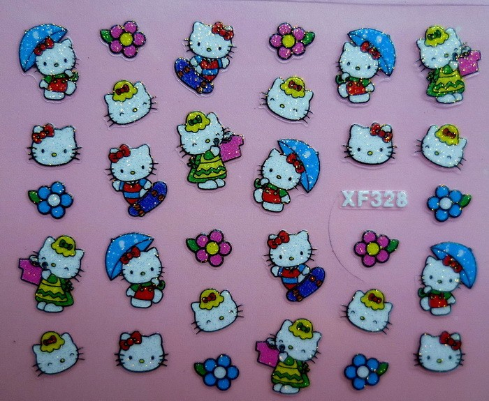 New hello kitty nail stickers 3d nail art stickers 24 designs uk new hello kitty nail stickers 3d nail art prinsesfo Image collections