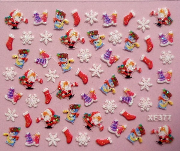Christmas nail stickers 3d nail art stickers ideal xmas gif 24 christmas nail stickers 3d nail art stickers ideal prinsesfo Gallery