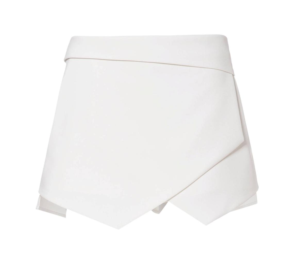 Womens-Wrap-Mini-Skort-Skirt-Short-Culottes-Irregular-Laminated-Flanging-PP004